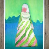 posters-prints, giclee-print, aesthetic, colorful, figurative, illustrative, portraiture, bodies, people, sky, blue, green, turquoise, ink, paper, beautiful, clothing, contemporary-art, copenhagen, danish, decorative, design, female, interior, interior-design, modern, motorcycle, nordic, posters, prints, scandinavien, women, Buy original high quality art. Paintings, drawings, limited edition prints & posters by talented artists.
