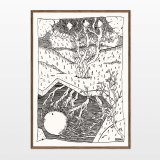 posters-prints, giclee-print, aesthetic, graphical, illustrative, landscape, monochrome, botany, nature, patterns, sky, black, white, ink, paper, autumn, contemporary-art, danish, decorative, design, forest, interior, interior-design, modern, modern-art, nordic, plants, posters, prints, scandinavien, trees, Buy original high quality art. Paintings, drawings, limited edition prints & posters by talented artists.