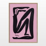 posters-prints, giclee-print, colorful, family-friendly, geometric, illustrative, pop, bodies, cartoons, movement, people, black, pink, ink, paper, amusing, danish, decorative, design, interior, interior-design, modern, modern-art, nordic, posters, prints, scandinavien, Buy original high quality art. Paintings, drawings, limited edition prints & posters by talented artists.