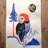 gouache-painting, watercolor-paintings, colorful, family-friendly, graphical, illustrative, landscape, pop, animals, botany, nature, wildlife, black, blue, red, gouache, ink, paper, beautiful, contemporary-art, danish, design, forest, interior, interior-design, modern, modern-art, mountains, naturalism, nordic, posters, pretty, scandinavien, Buy original high quality art. Paintings, drawings, limited edition prints & posters by talented artists.