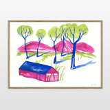 drawings, gouache-painting, watercolor-paintings, aesthetic, figurative, graphical, illustrative, landscape, pop, architecture, botany, nature, people, blue, green, violet, gouache, ink, paper, beautiful, danish, decorative, design, forest, houses, interior, interior-design, modern, mountains, nordic, plants, posters, pretty, prints, scandinavien, trees, Buy original high quality art. Paintings, drawings, limited edition prints & posters by talented artists.