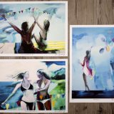posters-prints, giclee-print, colorful, figurative, graphical, landscape, pop, portraiture, bodies, everyday life, moods, seasons, beige, blue, green, ink, paper, beach, interior, interior-design, modern, modern-art, posters, summer, sun, women, Buy original high quality art. Paintings, drawings, limited edition prints & posters by talented artists.