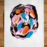 drawings, gouache, watercolors, abstract, colorful, movement, patterns, black, blue, orange, paper, watercolor, abstract-forms, danish, decorative, design, interior, interior-design, nordic, scandinavien, vivid, Buy original high quality art. Paintings, drawings, limited edition prints & posters by talented artists.
