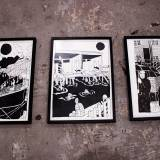 drawings, graphical, illustrative, monochrome, portraiture, architecture, oceans, sailing, transportation, black, white, paper, marker, black-and-white, boats, buildings, decorative, interior-design, vessels, Buy original high quality art. Paintings, drawings, limited edition prints & posters by talented artists.