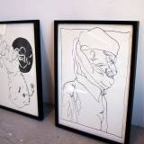 drawings, graphical, illustrative, monochrome, portraiture, cartoons, everyday life, moods, people, black, white, ink, paper, marker, black-and-white, men, Buy original high quality art. Paintings, drawings, limited edition prints & posters by talented artists.