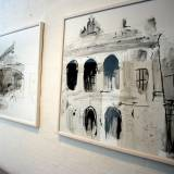 buildings theater drawings, black and white drawing Danish galleries powerful great art, best Danish artists
