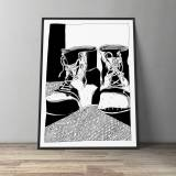 art-prints, gliceé, family-friendly, graphical, illustrative, monochrome, cartoons, everyday life, textiles, black, white, ink, paper, black-and-white, contemporary-art, danish, decorative, design, interior, interior-design, modern, modern-art, nordic, posters, prints, scandinavien, Buy original high quality art. Paintings, drawings, limited edition prints & posters by talented artists.