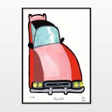 posters-prints, giclee-print, family-friendly, figurative, graphical, illustrative, pop, cartoons, humor, movement, transportation, pink, red, ink, paper, amusing, cars, contemporary-art, danish, decorative, interior, interior-design, modern, modern-art, nordic, posters, scandinavien, Buy original high quality art. Paintings, drawings, limited edition prints & posters by talented artists.
