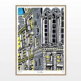 posters-prints, giclee-print, family-friendly, figurative, graphical, illustrative, architecture, cartoons, moods, sky, black, blue, grey, white, yellow, ink, paper, architectural, beautiful, buildings, cities, contemporary-art, copenhagen, danish, decorative, design, interior, interior-design, modern, nordic, posters, prints, scandinavien, street-art, streets, Buy original high quality art. Paintings, drawings, limited edition prints & posters by talented artists.