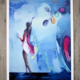 posters-prints, giclee-print, colorful, family-friendly, figurative, illustrative, pop, bodies, movement, people, sky, blue, red, paper, contemporary-art, danish, design, female, interior, interior-design, modern, modern-art, nordic, party, posters, scandinavien, women, Buy original high quality art. Paintings, drawings, limited edition prints & posters by talented artists.