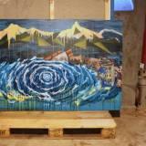galleri art - blue waves mountains disaster