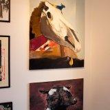 oil-painting-cow-brown-heads-oliemaleri-maleri-adele-marie-rannes-koer-brun-hvid