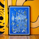 art-prints, serigraphs, animal, colorful, family-friendly, figurative, graphical, illustrative, pop, architecture, botany, cartoons, children, people, blue, white, yellow, acrylic, paper, amusing, buildings, cars, cities, contemporary-art, copenhagen, cute, danish, interior, interior-design, modern, nordic, posters, prints, scandinavien, Buy original high quality art. Paintings, drawings, limited edition prints & posters by talented artists.