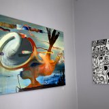 paintings, abstract, landscape, surrealistic, movement, nature, sky, blue, grey, orange, pink, flax-canvas, oil, abstract-forms, atmosphere, contemporary-art, decorative, design, interior, interior-design, modern, modern-art, nordic, scandinavien, scenery, shapes, Buy original high quality art. Paintings, drawings, limited edition prints & posters by talented artists.