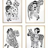 art-prints, linocuts, animal, figurative, graphical, monochrome, pop, portraiture, bodies, cartoons, wildlife, black, white, acrylic, black-and-white, contemporary-art, danish, decorative, design, interior, interior-design, modern, modern-art, nordic, posters, scandinavien, wild-animals, Buy original high quality art. Paintings, drawings, limited edition prints & posters by talented artists.