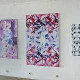 paintings, abstract, aesthetic, graphical, monochrome, pop, patterns, black, grey, white, cotton-canvas, oil, abstract-forms, black-and-white, Buy original high quality art. Paintings, drawings, limited edition prints & posters by talented artists.