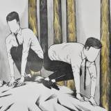 strong and expressive art illustrations and drawings, talented Danish illustrator, cartoonist, faverige