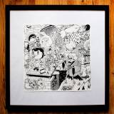 drawings, family-friendly, illustrative, monochrome, cartoons, everyday life, oceans, pets, wildlife, black, white, artliner, paper, marker, amusing, birds, black-and-white, fish, food, sketch, Buy original high quality art. Paintings, drawings, limited edition prints & posters by talented artists.