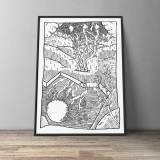 art-prints, gliceé, aesthetic, illustrative, landscape, monochrome, botany, cartoons, nature, black, white, ink, paper, black-and-white, flowers, plants, scenery, sketch, Buy original high quality art. Paintings, drawings, limited edition prints & posters by talented artists.