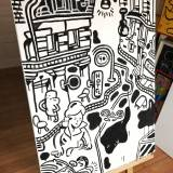 paintings, family-friendly, illustrative, monochrome, pop, architecture, everyday life, people, transportation, black, white, cotton-canvas, other-mediums, architectural, danish, decorative, design, houses, interior, interior-design, nordic, scandinavien, street-art, streets, Buy original high quality art. Paintings, drawings, limited edition prints & posters by talented artists.