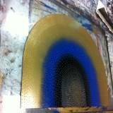VIRGIN MARY linocut_printing process