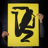 posters-prints, giclee-print, family-friendly, figurative, graphical, minimalistic, pop, bodies, cartoons, humor, movement, people, black, ink, paper, amusing, contemporary-art, copenhagen, danish, decorative, design, interior, interior-design, modern, nordic, posters, prints, scandinavien, Buy original high quality art. Paintings, drawings, limited edition prints & posters by talented artists.