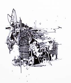 art-prints, gliceé, abstract, geometric, monochrome, architecture, patterns, black, white, ink, paper, abstract-forms, architectural, black-and-white, Buy original high quality art. Paintings, drawings, limited edition prints & posters by talented artists.