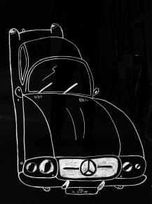 drawings, family-friendly, monochrome, pop, moods, movement, transportation, black, white, paper, other-mediums, black-and-white, cars, naive, street-art, vehicles, Buy original high quality art. Paintings, drawings, limited edition prints & posters by talented artists.