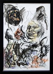 drawings, expressive, portraiture, people, beige, black, white, yellow, artliner, paper, marker, expressionism, faces, sketch, vertical, wild, Buy original high quality art. Paintings, drawings, limited edition prints & posters by talented artists.