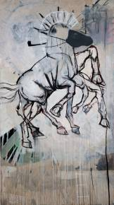 paintings, animals, figurative, livestock, pets, wildlife, black, brown, grey, acrylic, cotton-canvas, marker, spray-paint, horses, wild-animals, Buy original high quality art. Paintings, drawings, limited edition prints & posters by talented artists.