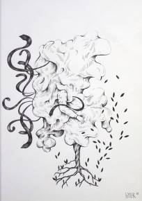 drawings, abstract, graphical, botany, sky, black, white, artliner, abstract-forms, trees, Buy original high quality art. Paintings, drawings, limited edition prints & posters by talented artists.