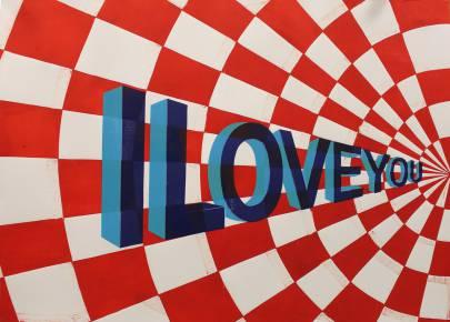 I LOVE YOU linocut_Marta Banaszak