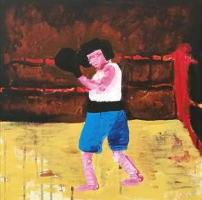 paintings, expressive, figurative, bodies, movement, people, sport, beige, black, blue, red, acrylic, cotton-canvas, contemporary-art, decorative, expressionism, female, feminist, interior, interior-design, modern, modern-art, women, Buy original high quality art. Paintings, drawings, limited edition prints & posters by talented artists.