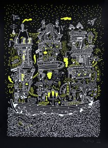 posters-prints, serigraphs, aesthetic, family-friendly, figurative, graphical, landscape, architecture, cartoons, moods, nature, oceans, sailing, transportation, black, white, yellow, acrylic, paper, beautiful, boats, buildings, contemporary-art, danish, decorative, design, modern, modern-art, nordic, party, posters, pretty, prints, scandinavien, sea, Buy original high quality art. Paintings, drawings, limited edition prints & posters by talented artists.