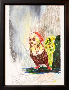 drawings, animal, family-friendly, illustrative, cartoons, humor, pets, wildlife, green, grey, red, yellow, crayons, paper, marker, pencils, watercolor, amusing, birds, decorative, interior, interior-design, sketch, Buy original high quality art. Paintings, drawings, limited edition prints & posters by talented artists.