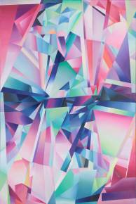 paintings, abstract, colorful, geometric, graphical, pop, architecture, patterns, blue, green, neon, pink, purple, flax-canvas, oil, abstract-forms, architectural, contemporary-art, cubes, cubism, danish, interior, interior-design, modern, modern-art, nordic, romantic, scandinavien, Buy original high quality art. Paintings, drawings, limited edition prints & posters by talented artists.