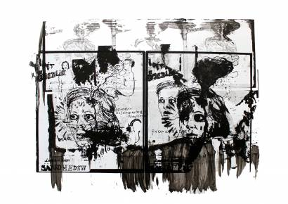 art-prints, gliceé, abstract, figurative, portraiture, bodies, people, black, white, ink, paper, faces, Buy original high quality art. Paintings, drawings, limited edition prints & posters by talented artists.
