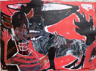 drawings, gouache-painting, watercolor-paintings, abstract, colorful, expressive, illustrative, animals, bodies, people, wildlife, black, red, acrylic, ink, paper, marker, abstract-forms, contemporary-art, dogs, expressionism, interior-design, modern, modern-art, Buy original high quality art. Paintings, drawings, limited edition prints & posters by talented artists.