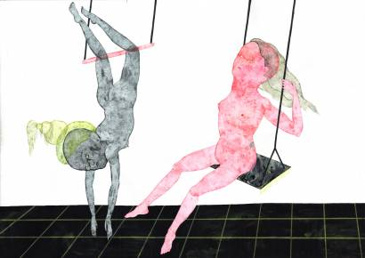 drawings, gouache, watercolors, figurative, illustrative, portraiture, surrealistic, bodies, moods, movement, sexuality, black, grey, pink, gouache, paper, contemporary-art, copenhagen, decorative, design, female, feminist, interior, interior-design, modern, modern-art, nordic, nude, party, vivid, women, Buy original high quality art. Paintings, drawings, limited edition prints & posters by talented artists.