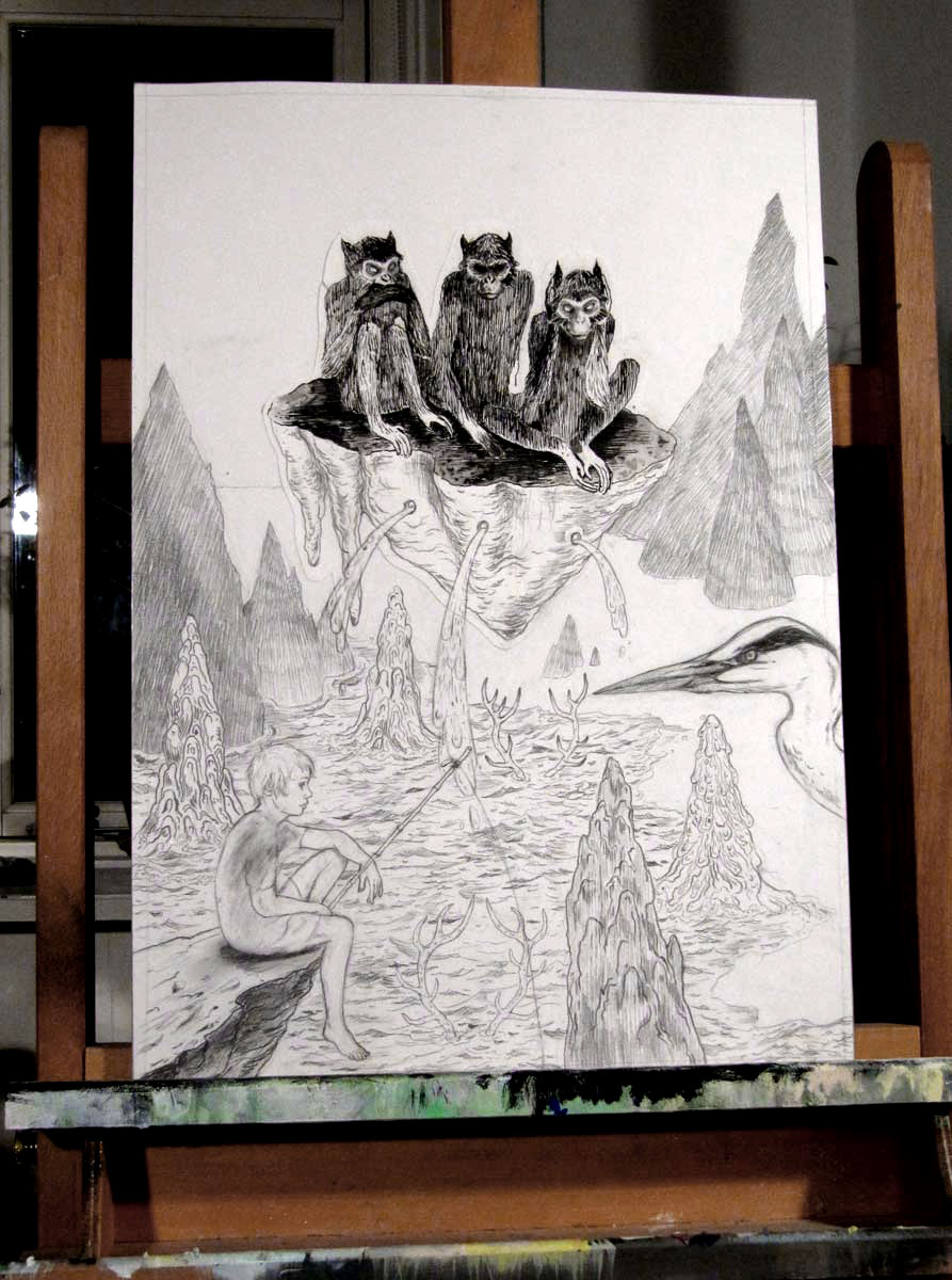 drawings, aesthetic, animals, landscape, surrealistic, botany, nature, pets, black, grey, white, paper, pencils, scenery, trees, water, wild-animals, Buy original high quality art. Paintings, drawings, limited edition prints & posters by talented artists.