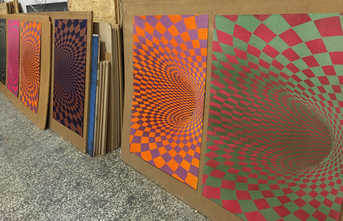 TOROIDAL SPACE linocut_colour options