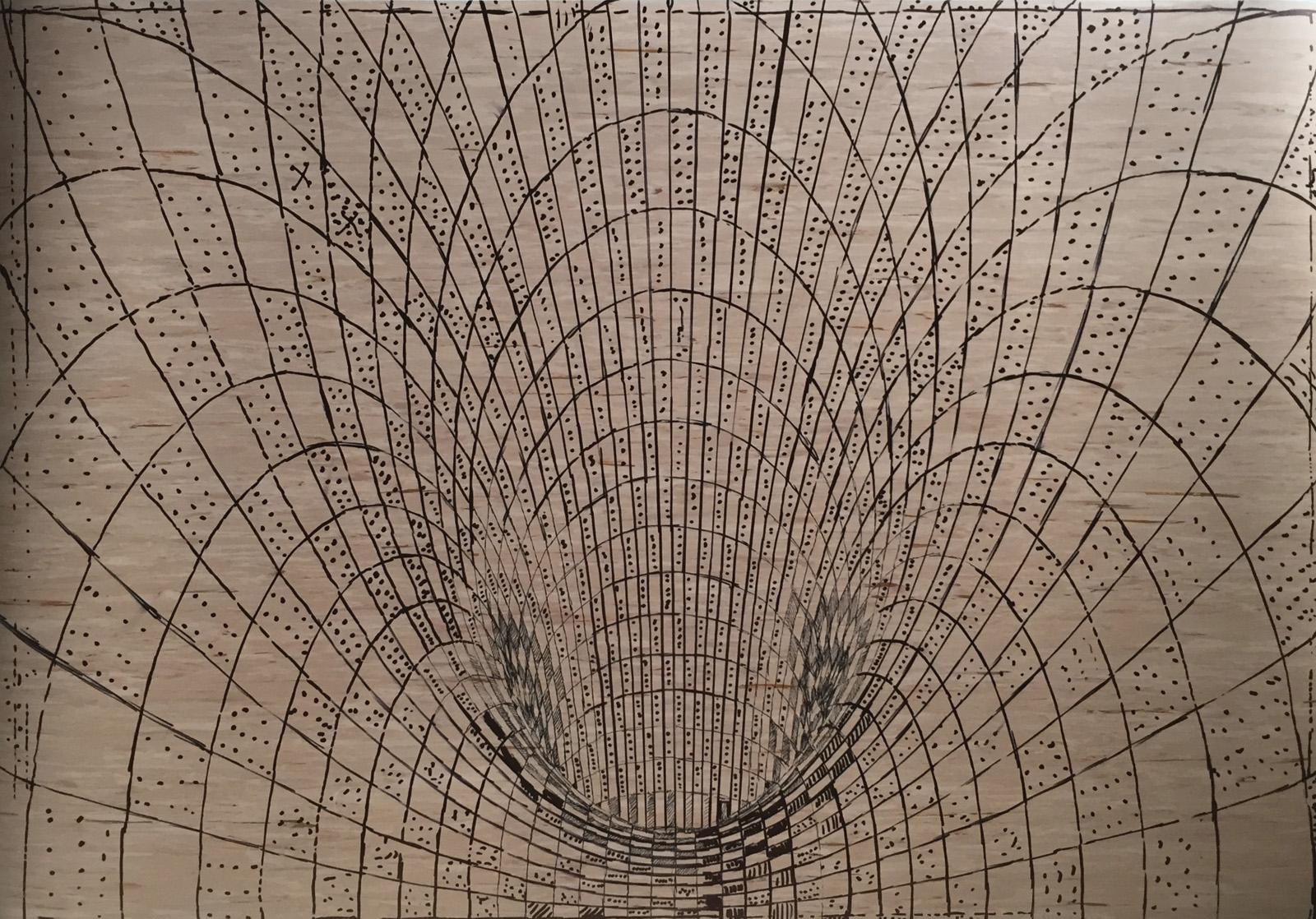 TOROIDAL SPACE linocut_stencil