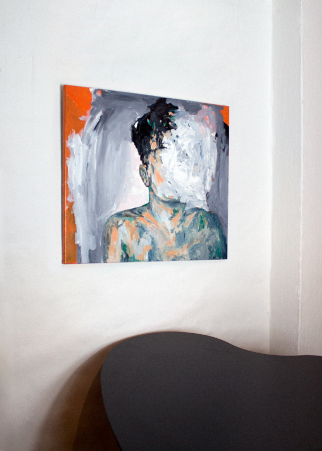 paintings, expressive, figurative, bodies, moods, people, black, green, grey, orange, acrylic, cotton-canvas, boys, bright, contemporary-art, copenhagen, interior, interior-design, men, scandinavien, Buy original high quality art. Paintings, drawings, limited edition prints & posters by talented artists.